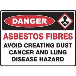 DANGER ASBESTOS FIBRES AVOID CREATING DUST