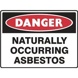 DANGER NATURALLY OCCURING ASBESTOS