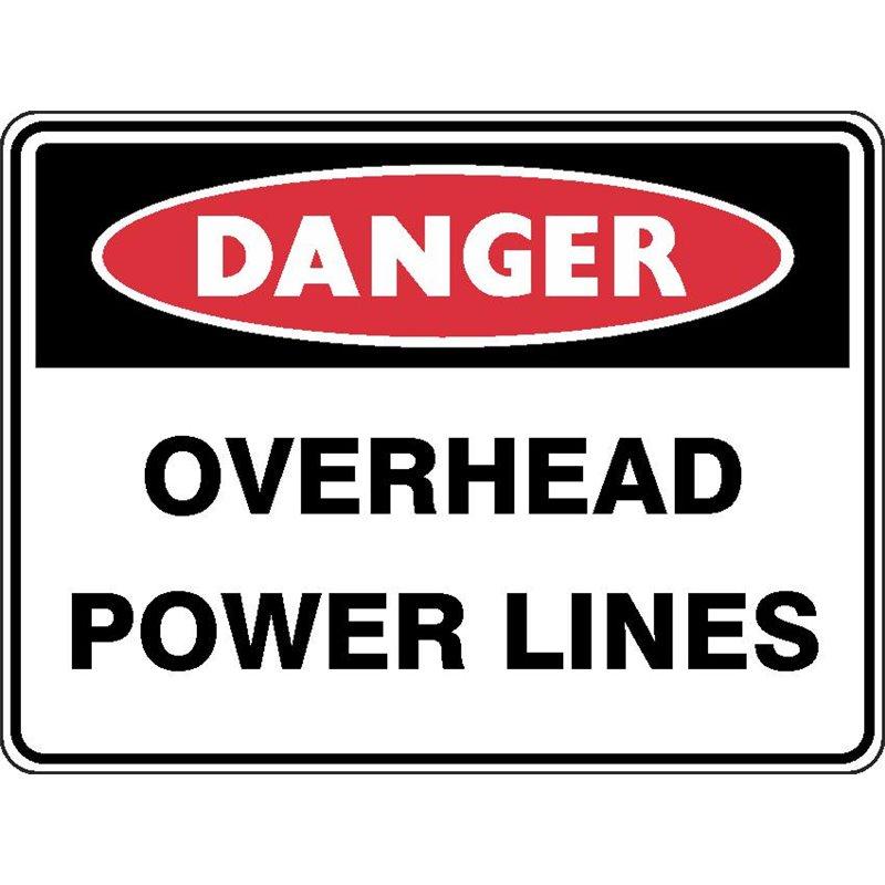 DANGER OVERHEAD POWER LINES