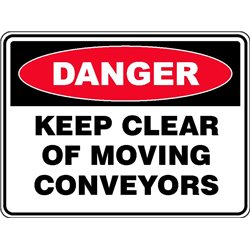 DANGER KEEP CLEAR MOVING CONV
