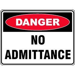 DANGER NO ADMITTANCE
