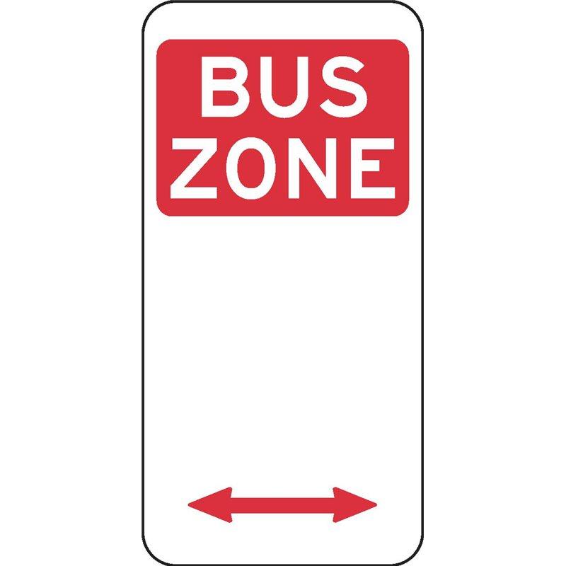 TRAFFIC BUS ZONE ARROW 2 WAY