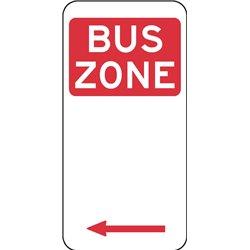 TRAFFIC BUS ZONE ARROW LEFT