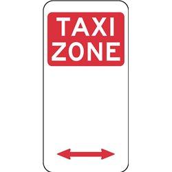 TRAFFIC TAXI ZONE ARROW 2 WAY