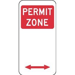 TRAFFIC PERMIT ZONE ARROW 2 WAY