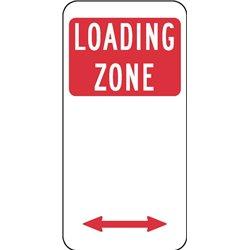TRAFFIC LOADING ZONE ARROW 2 WAY