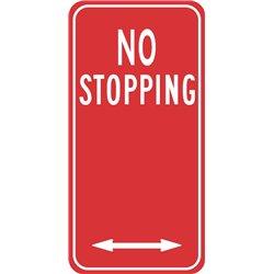 TRAFFIC NO STOPPING ARROW 2 WAY