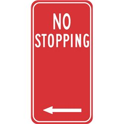 TRAFFIC NO STOPPING ARROW LEFT