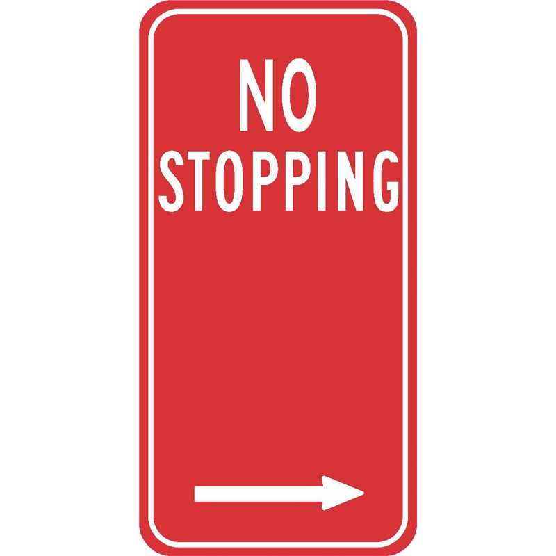 TRAFFIC NO STOPPING ARROW RIGHT