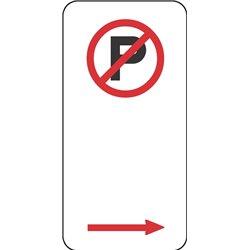 TRAFFIC NO PARKING ARROW RIGHT