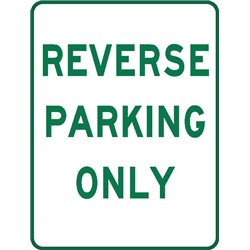 PARKING REVERSE PARKING ONLY