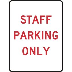 PARKING STAFF PARKING ONLY
